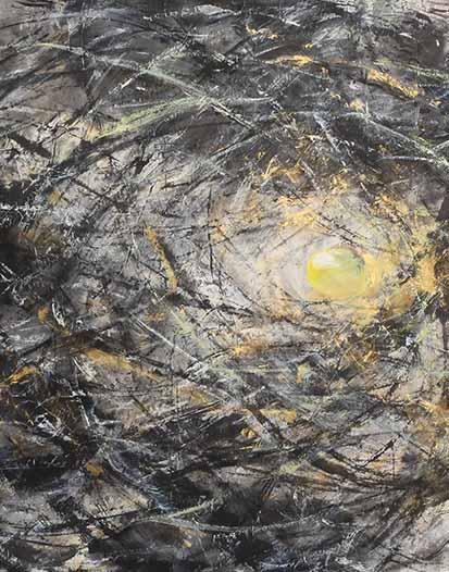 刘一原 《心象风景系列》 纸本水墨 67cm×71cm 2008年