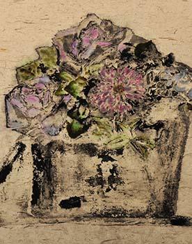 魏建明《深呼吸-6》 皮纸 38cm×36cm 2011年