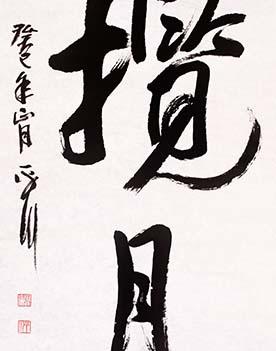 吴平川 《揽月》 书法 2013年