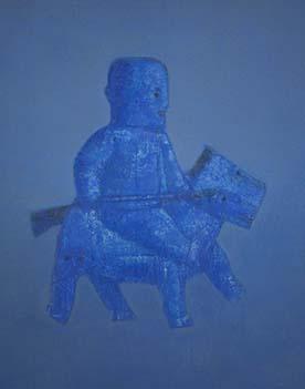 张扬〈刀马旦〉布面油画90× 100CM 2009年4月