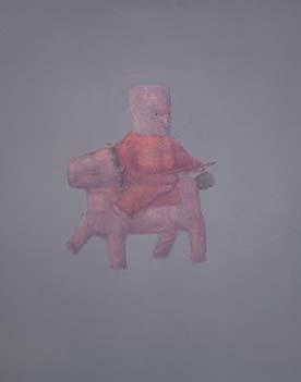 张扬〈刀马旦〉布面油画90× 100CM 2009年5月