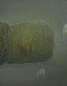 张扬〈旅途中休息的人2〉布面油画50× 60CM 2013年5月