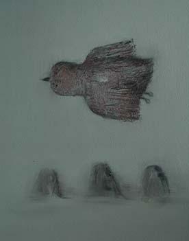 张扬〈千山鸟飞过〉布面油画50× 60CM 2013年8月