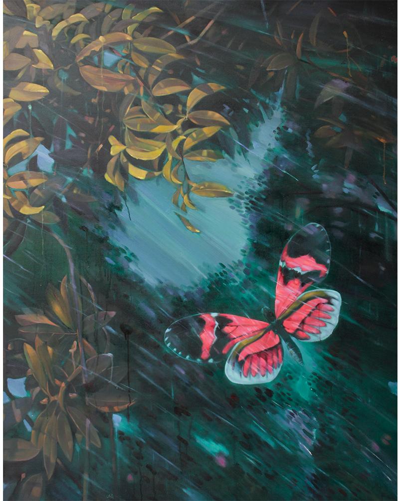 风雨中的蝴蝶一