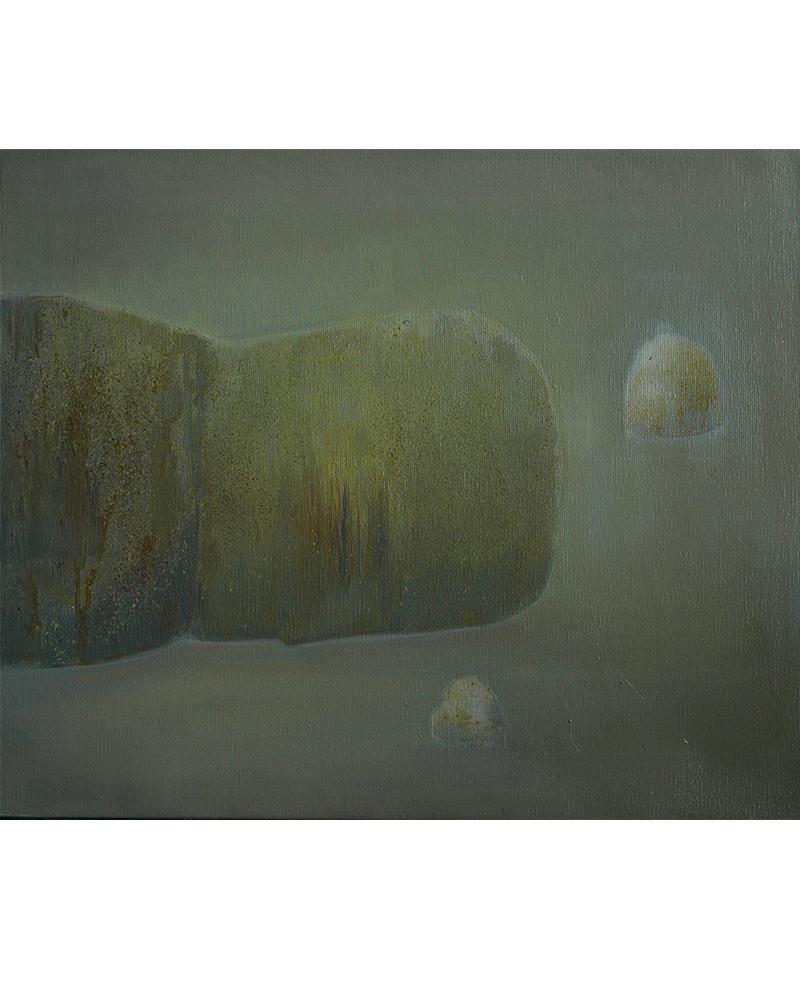 张扬〈旅途中休息的人2〉布面油画