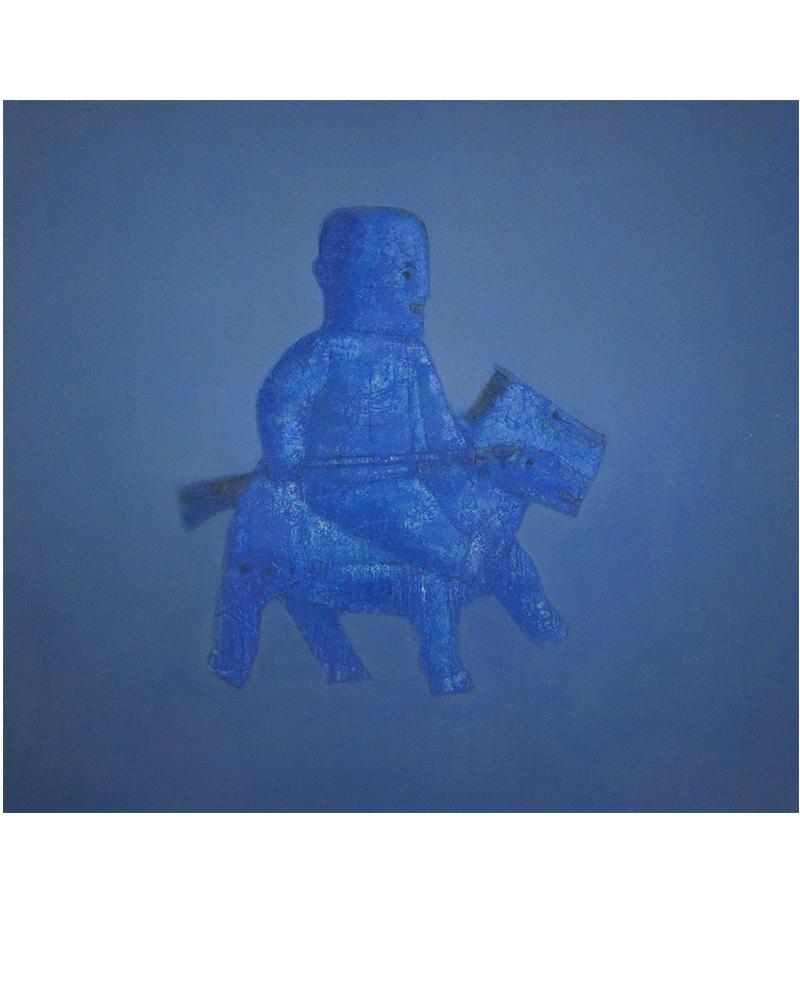 张扬〈刀马旦〉布面油画