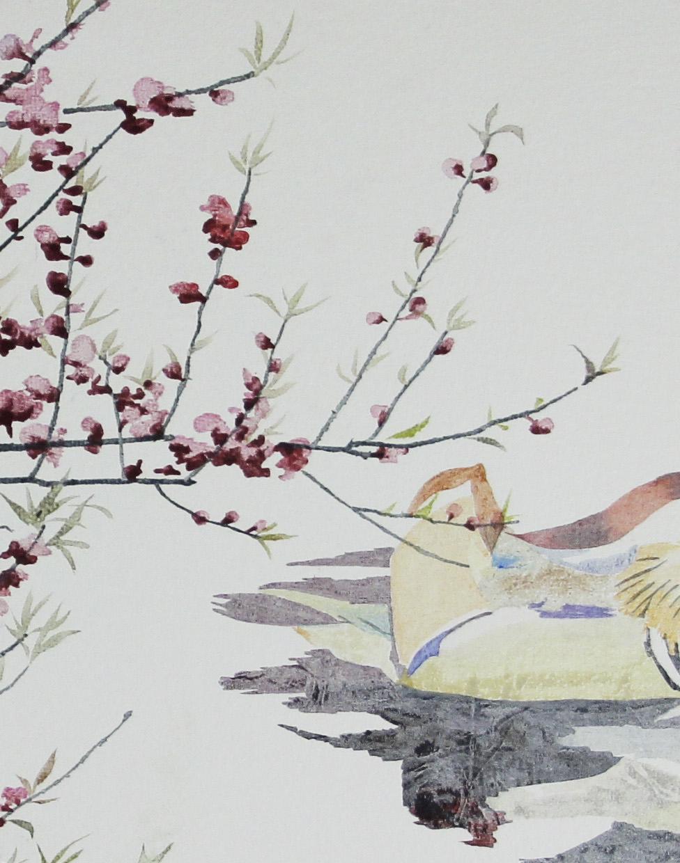 局部图-《春意怏然》50×70cm布面油画2016