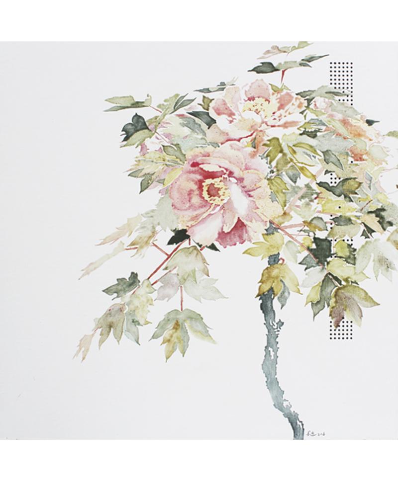 局部图-《花期时时No.160618》60×60cm布面油画2016